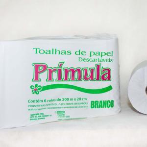 Papel toalha bobina 6x200